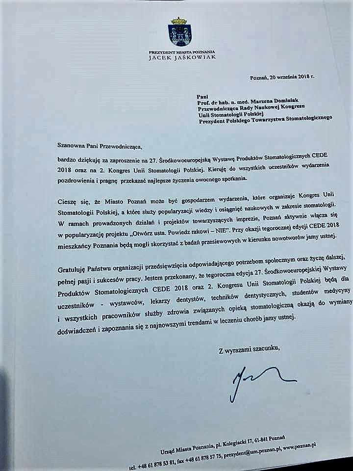 List Prezydenta Poznania