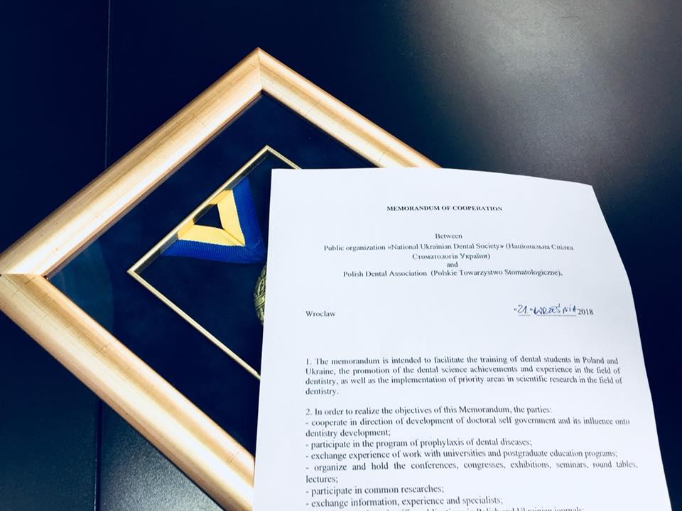 Porozumienie z Ukraińskim Towarzystwem Stomatologicznym