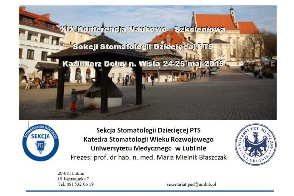 """XIX Konferencja Naukowo-Szkoleniowa """"Uśmiech dziecka – radość życia"""""""