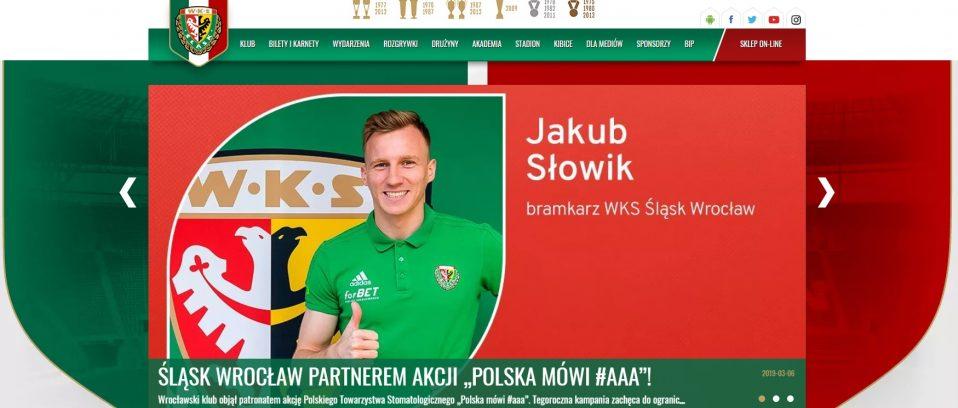 Śląsk Wrocław partnerem, bramkarz Ambasadorem, dentobus pod stadionem