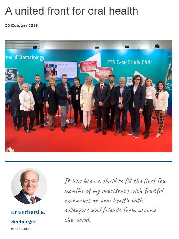Prezydent FDI wspomina wizytę w Polsce