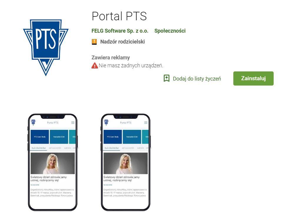 Rośniemy w siłę wraz z aplikacją mobilną PTS