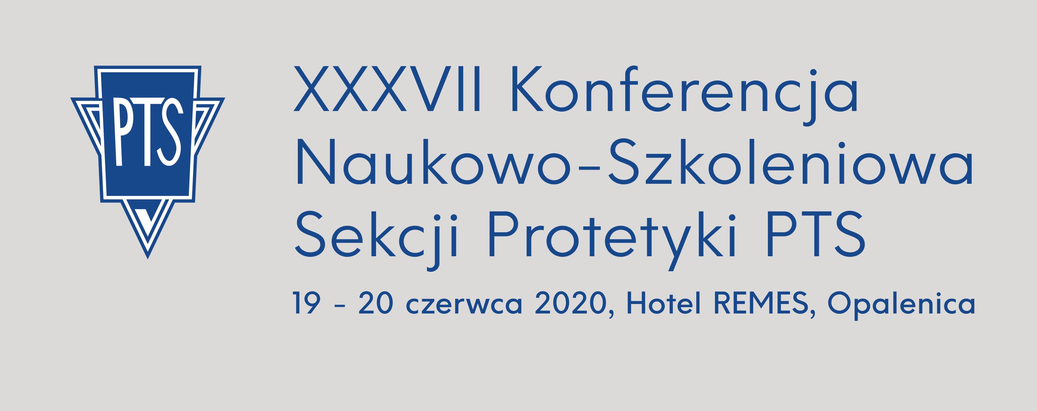 XXXVII Konferencja Sekcji Protetyki PTS ze stroną internetową